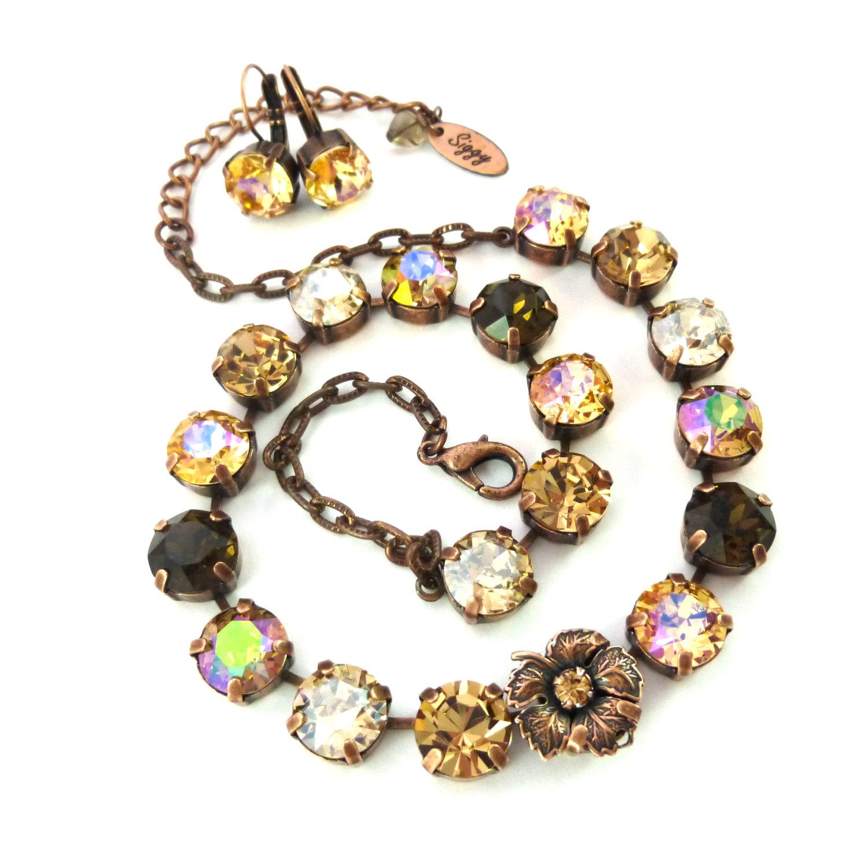 Swarovski crystal necklace,