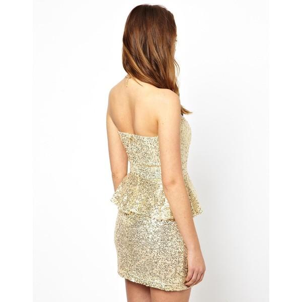 Glamorous Sequin Peplum Dress - Polyvore