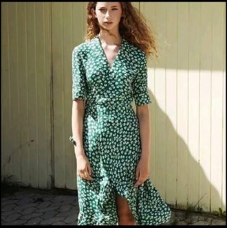 dress green summer dress