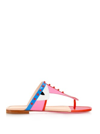 shoes pink sandals fendi sandals flat sandals