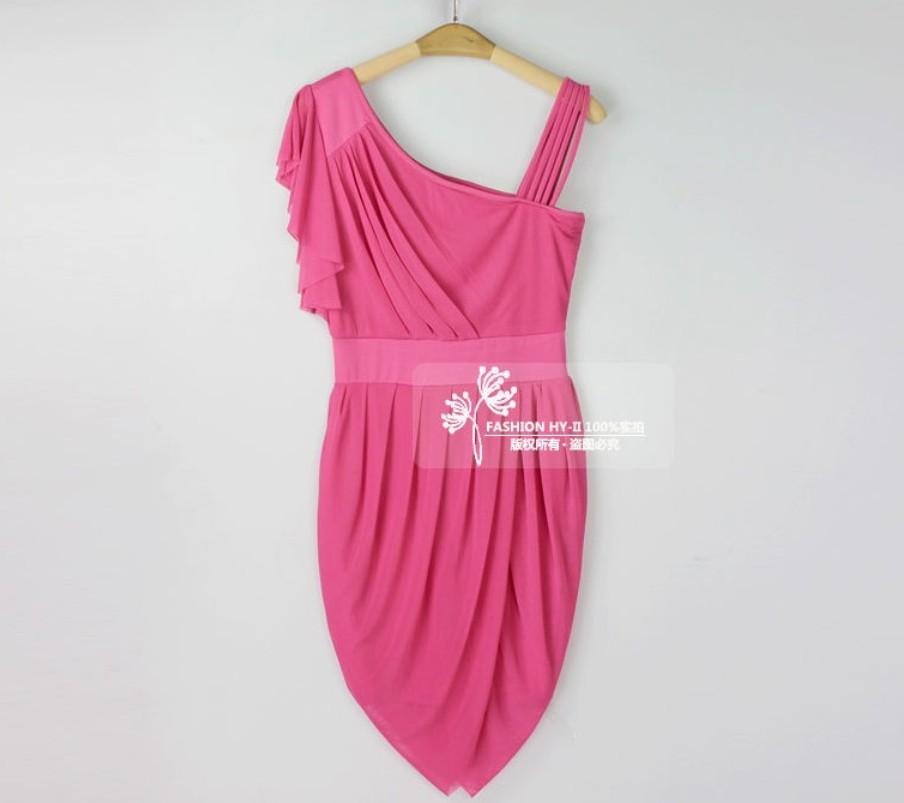 2014 Women Autumn Evening shoulder dress sexy Slim package hip skirt dress Korean Women Fall from taobao agent:Shopitchina.com