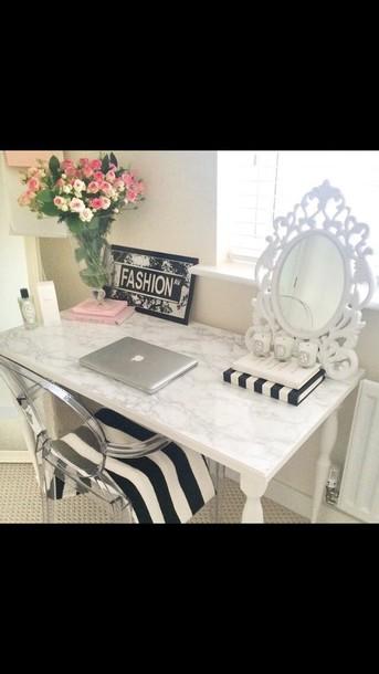 home accessory white makeup table mirror desk classy