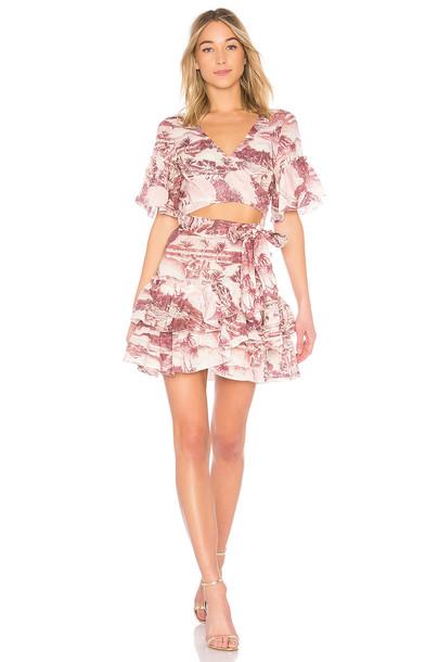 Zimmermann dress wrap dress short pink