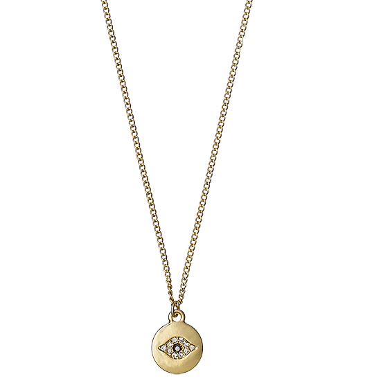 necklace, 50 cm, gold plated, grey