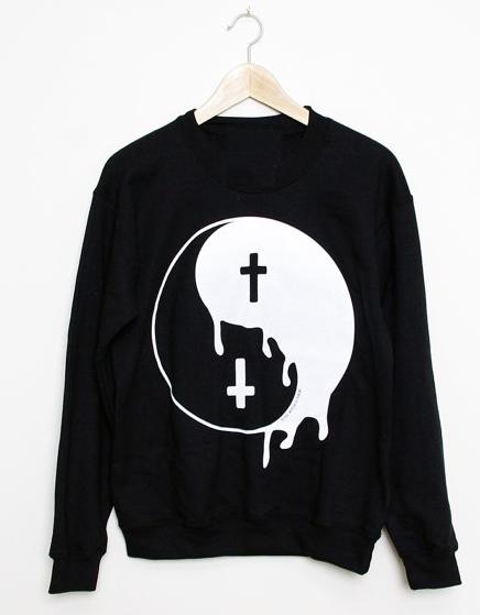 Yin Yang Cross Sweatshirts