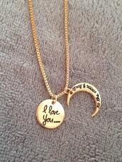 jewels,necklace,gift ideas,moon,i love you,girlfriend,boyfriend,halloween,pendant,High waisted shorts,summee outfit,summer dress