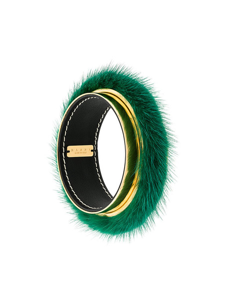 MARNI cuff fur women cuff bracelet green jewels