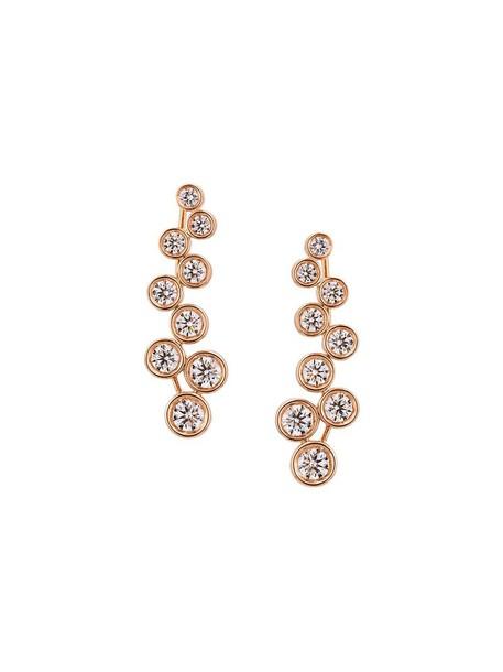 Alinka rose gold rose women earrings gold grey metallic jewels