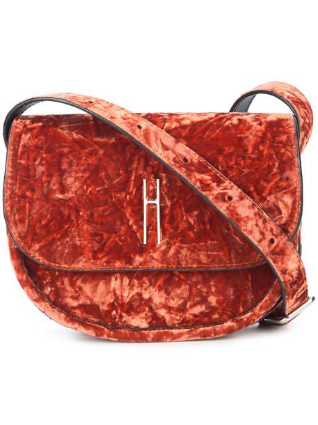 Hayward belt bag women bag suede silk velvet red