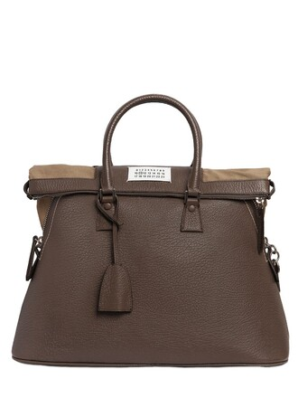 bag leather grey bronze
