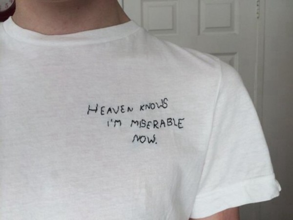 Shirt Grunge Style T Shirt Oversized Quote On It