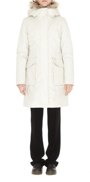Woolrich parka white coat