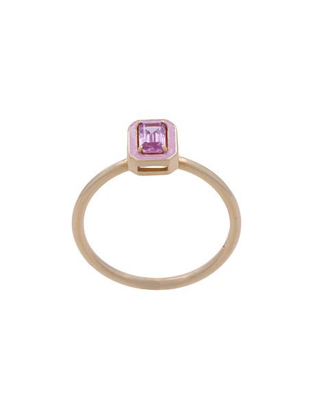 women ring gold pink grey metallic jewels