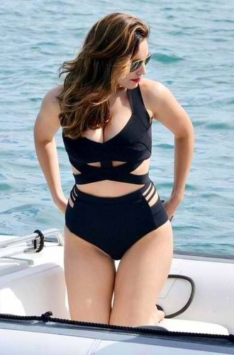 swimwear black black bikini two-piece black two piece set high waisted cut-out bikini black swimwear plus size kelly brook black trikini black cutout swimwearr bustier bikini curvy caged one piece swimsuit high waisted bikini high waisted swim bottoms strappy beach bandage bandage bikini