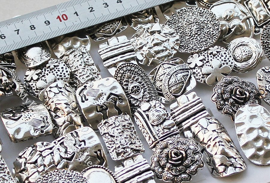 Wholesale Fashion Jewelry 10pcs Vintage Style Rhinestone Tibet Silver Ring MA339 | eBay
