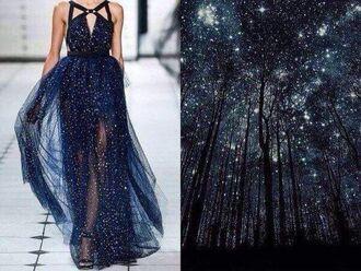 dress night sky stars elie saab galaxy dress designer dress