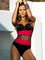 Mesh one piece bathing suit