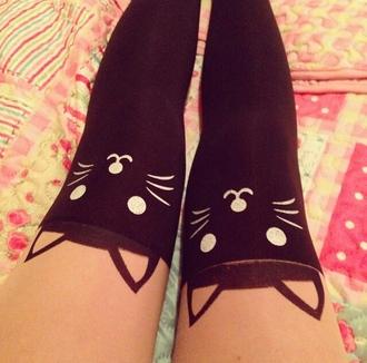 leggings kittycat stockings black cats