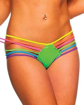 Amazon.com: BodyZone Sexy Sexy Roy G Biv Bikini Bottoms - ONE SIZE: Clothing