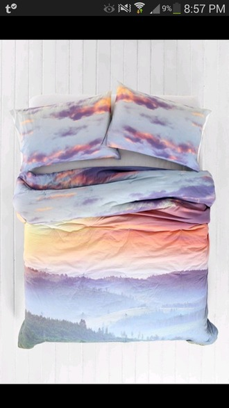 home accessory pastel bedding bedroom bed cover clouds bedroom ideas