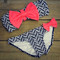 Sailor's girl black chevron pink bow bandeau bikini | amazing lace