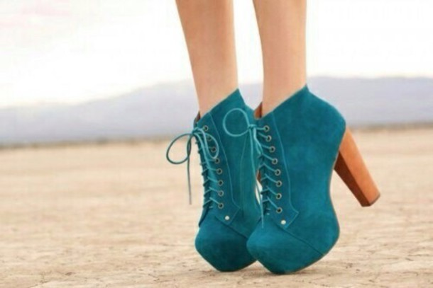 Shoes: blue, green, blue/green, turquoise, heels, high heels ...