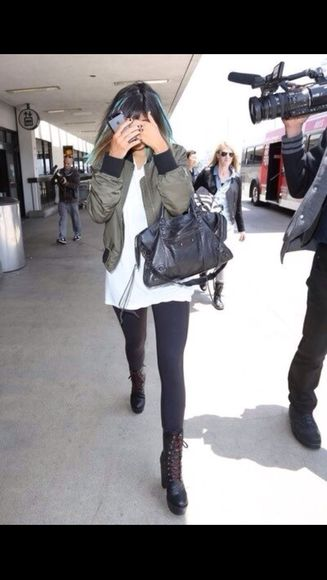 jacket kylie jenner kendall and kylie jenner green jacket