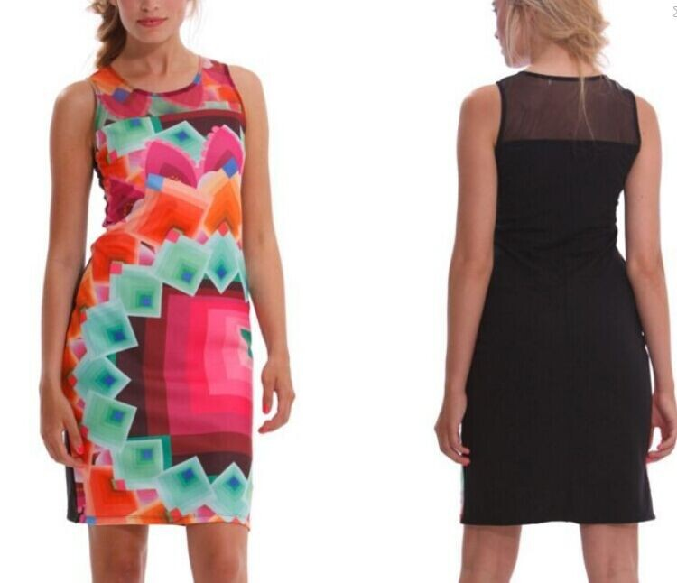 High Quality Summer Fashion Women Desigual Dresses 2014 Sexy Lady Casual Vestidos Print Dresses New | Amazing Shoes UK