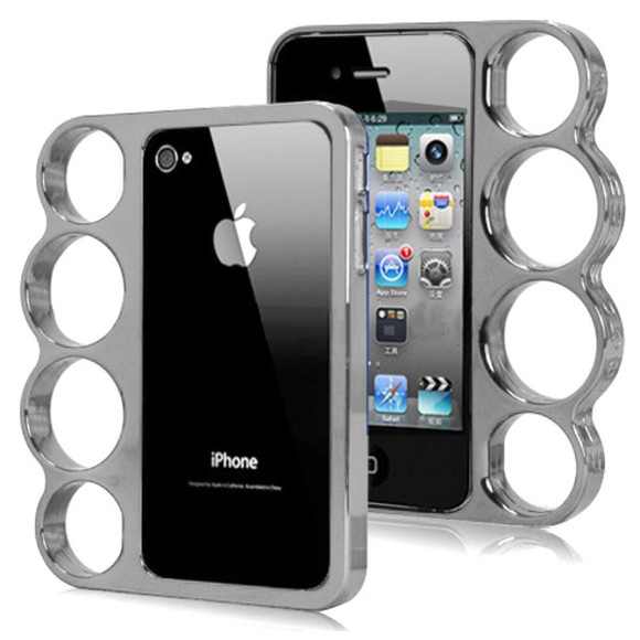 jewels studded iphone cover studded iphone case iphone5 knucke knuckle duster duster silver black white love summer iphone cover iphone iphone4