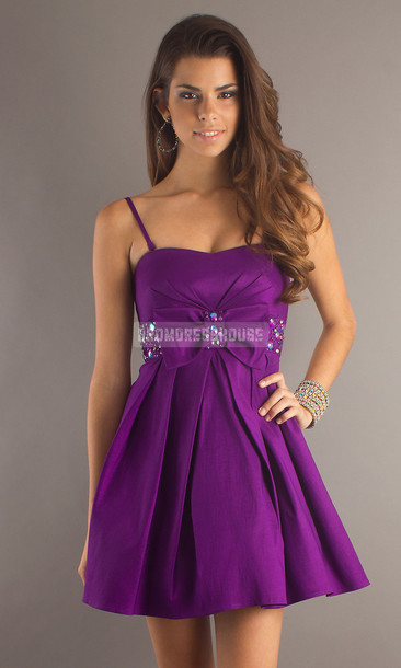 Short Purple Sexy Dresses