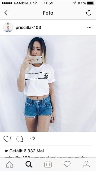 shirt adidas white