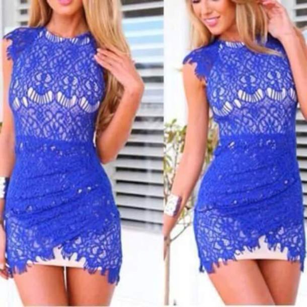 dress sky blue bluelacedress