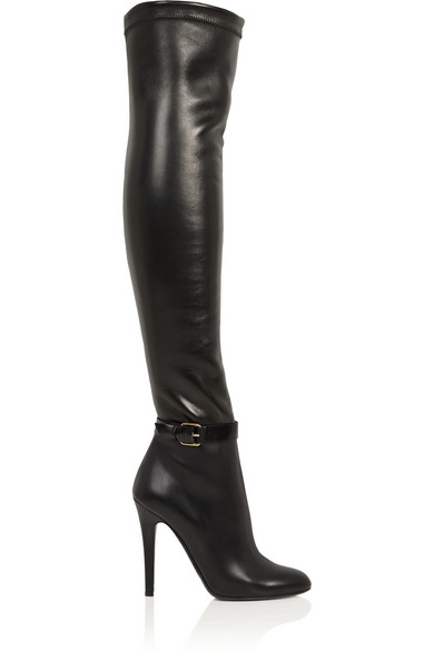 Choo | Tamba stretch-leather over-the-knee boots | NET-
