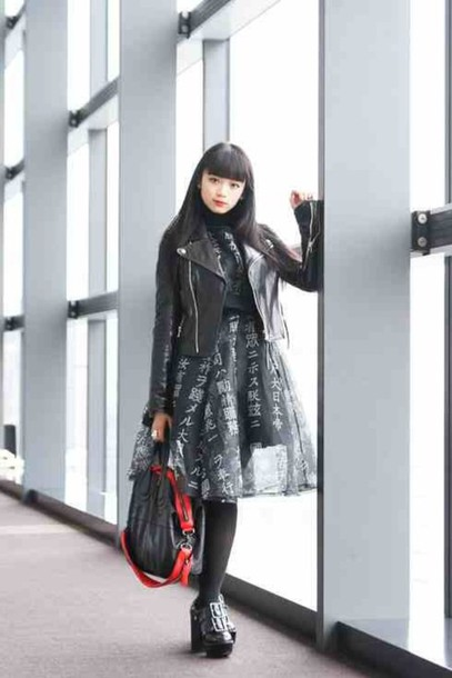 Dress Black Japan Japanese Fashion Jacket Kawaii Kawaii Grunge Japanese Style Fashion