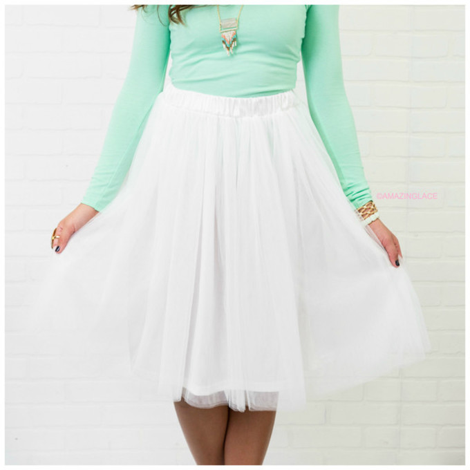 white skirt knee length tulle skirt amazinglace knee