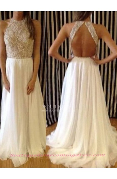 Line high neck tulle 2015 prom dress