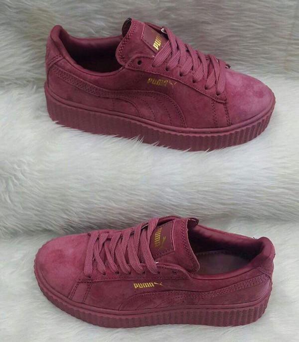 FENTY Puma x Rihanna Men's Velvet Creeper Lace Up Sneakers -  Bloomingdale's; puma creepers purple