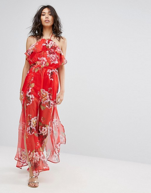 266e203bdd402 PrettyLittleThing Floral Printed Maxi Dress at asos.com