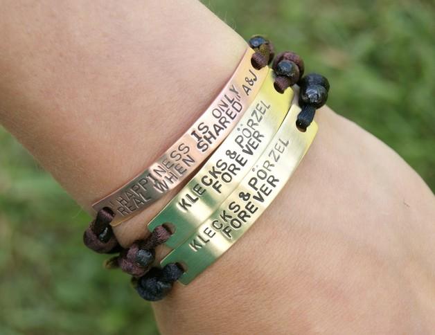 Braccialetti dell'amicizia - Bracciale personalizzato - ottone - un prodotto unico di She-Bijou su DaWanda