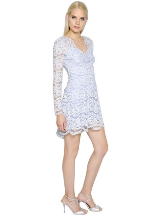 dress lace dress long lace cotton light blue light blue