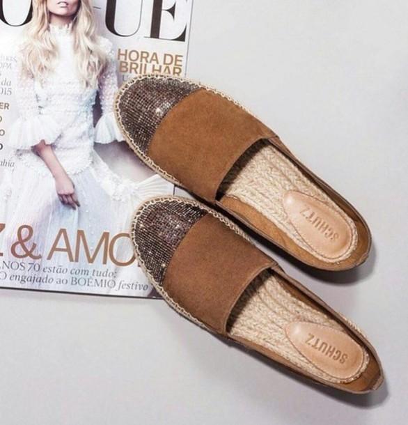 shoes brown schutz espadrilles flats