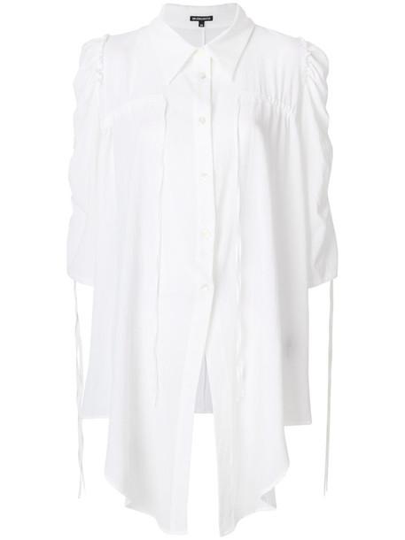 ANN DEMEULEMEESTER shirt women white cotton top