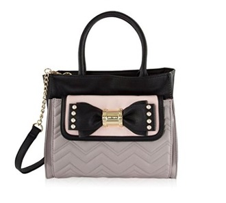 bag bow betsey johnson tote bag pouch pink and black crossbody bag casual purse