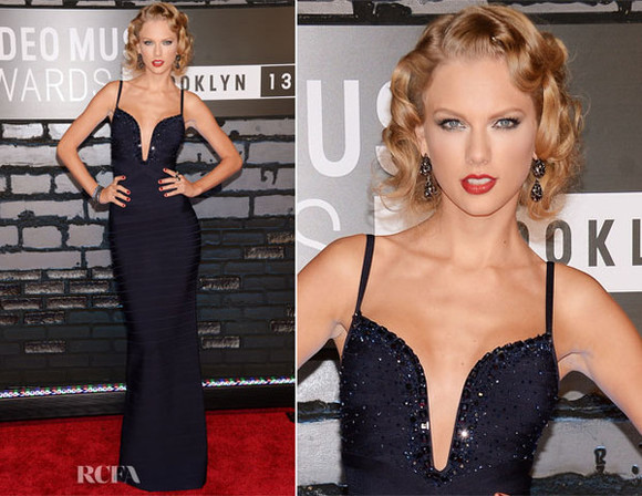 dress taylor swift navy blue prom dress celebrities maxi dress lowcut dress prom clothes