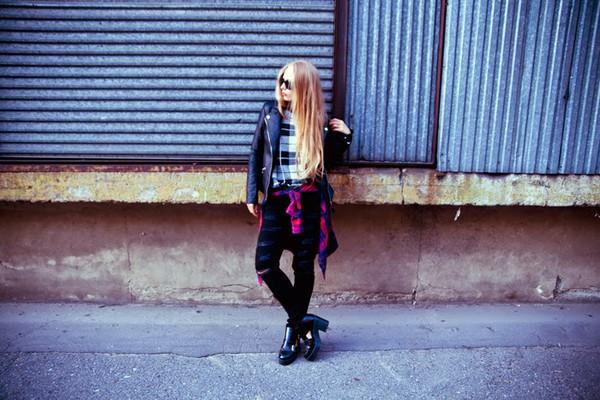 sylvia gaczorek blogger jacket shoes