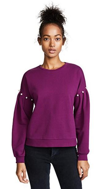 Rebecca Minkoff sweatshirt plum sweater