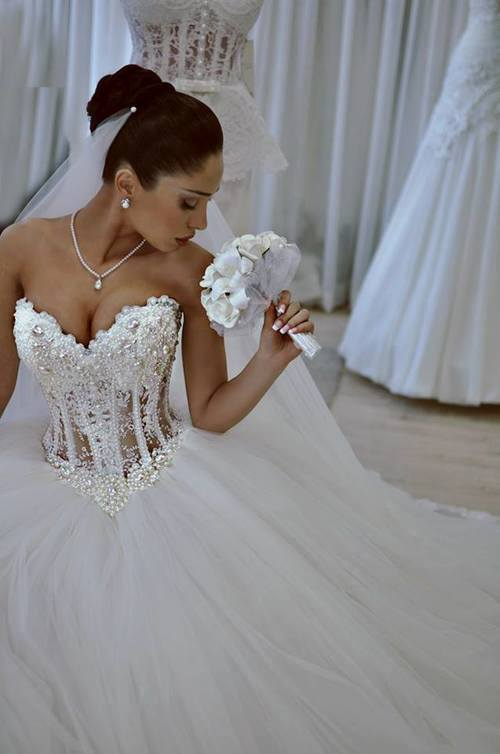 Buy luxurious bling strapless wedding for Strapless wedding dresses with bling