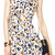 ROMWE | ROMWE Daisise Print Cut-out Slim White Dress, The Latest Street Fashion