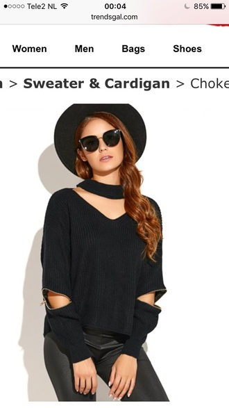 sweater black casual trendy long sleeves fashion style knitwear fall outfits trendsgal.com
