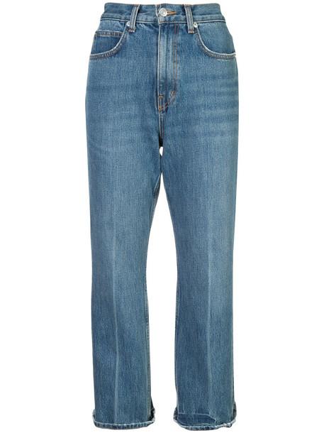 Proenza Schouler jeans flare jeans flare cropped women cotton blue